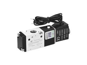 """3V110-06 Pneumatic Air NC Single Electrical Control Solenoid Valve DC 24V 3 Way 2 Position 1/4"""" PT Internally Piloted Acting Type"""
