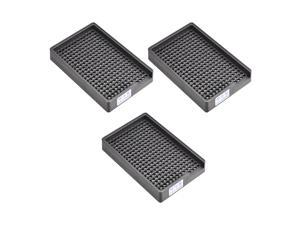 Anti-Static ESD Hard Plastic Screws Storage Tray Holder Organizer 273 Holes Fit for 3-3.5mm Dia Screw 3pcs