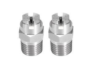 2 Pcs Flat Fan Spray Tip 1//4BSPT Nozzle 110 Degree 1.1mm Orifice Diameter