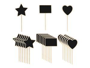 24pcs Mini Chalkboards Signs with Supporter Wood Delicate Design Chalkboard Tag for Message Board Signs Table Number Reminder