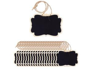 20pcs Mini Chalkboards Signs with Hanging Rope Rectangle Design Chalkboard Tag for Weddings Birthday Party Messages
