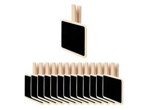 14pcs Mini Chalkboards Signs with Clips Wood Chalkboard Tag for Weddings Party Message Board Notes Table Number Reminder Price Tag