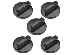 Timer Knobs Range Replacement Knobs Time Control Knob Round Shaft for Electronic Microwave Oven Cooker 5pcs