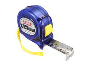 Tape Measure 5 Meters Retractable Measuring Tape Metric Plastic Round Case