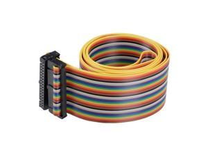 Flat Ribbon Cable Rainbow Wire 34-pin 128cm with Idc Connector F/f for Arduino