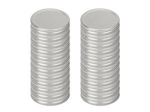24 Pcs Iron Mason Jar Lid for Regular Mouth Mason Canning Jars Cup Silver Tone