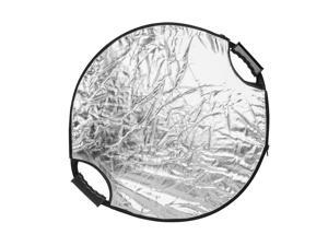 White and Black Dison 43 // 110cm 5-in-1 Circular Collapsible Multi-Disc Light Reflector Set with Bag Gold Translucent Silver