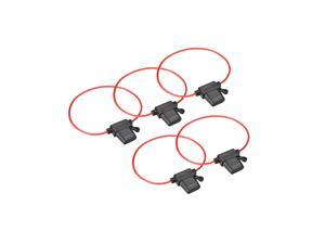 Fuse Holder In-line 18AWG Automotive Car Waterproof Fuse Holder Black 5Pcs for ATC/ATO Fuse