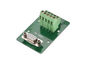 DB9-M 2 Row 5mm Pitch Adapter Female Terminals Board Nut Type D-Sub Connector