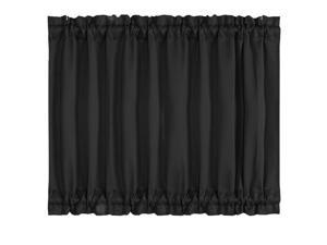 Patio Door Curtain Window Treatment Drapes for Privacy - Room Darkening 54x40 Inch Blackout French Glass Door Curtain Panels,1 Panel, Black