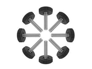 M10 x 50 x 40mm Leveling Feet Adjustable Leveler for Table Machine Leg 8pcs