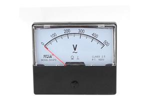 Unique Bargains DH-670 AC 0-500V Analog Volt Voltage Needle Panel Meter Voltmeter
