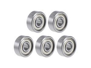 624ZZ Deep Groove Ball Bearing 4x13x5mm Double Shielded GCr15 Steel Bearings 5-Pack