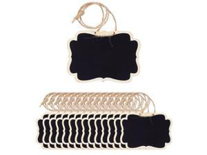 15pcs Mini Chalkboards Signs with Hanging Rope Rectangle Design Chalkboard Tag for Weddings Birthday Party Messages