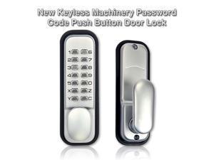 Generic Weatherproof Mechanical Keyless Password Metal Door Lock for Home Office Color Silver