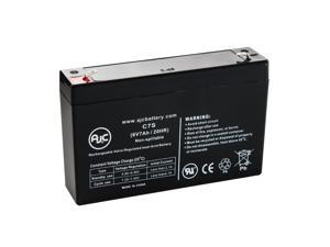 Portalac PE6V7.2 6V 7Ah Sealed Lead Acid Battery - This is an AJC Brand Replacement