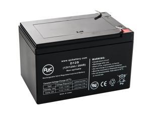 Haijiu 6-DFM-12A 12V 12Ah Mobility Scooter Battery - This is an AJC Brand Replacement