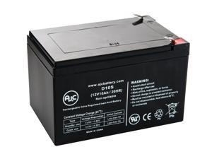 Long Way LW-6FM10 12V 10Ah Sealed Lead Acid Battery - This is an AJC Brand Replacement
