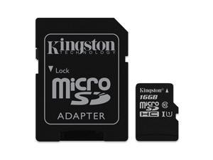 Professional Kingston MicroSDHC 16GB SDHC Class 4 Certified Card for Motorola XT711 Phone with custom formatting and Standard SD Adapter. 16 Gigabyte