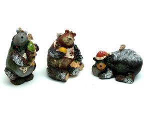 Woodland Bear Ornaments Set of Three-0197-242921