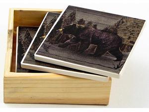 Bear Square Coaster Set-0126-60019