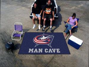 Fanmats NHL - Columbus Blue Jackets Man Cave UltiMat Rug 5'x8'