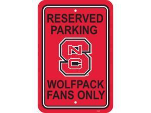Fremont Die 50248 12'' X 18'' Plastic Parking Sign  - N. Carolina State Wolfpack