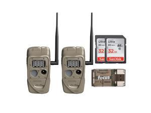 Cuddeback J-1521 CuddeLink Long Range IR Trail Camera (2-Pack) w/ SD Card Bundle