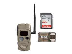 Cuddeback CuddeLink Black Flash 20MP Trail Camera with 32GB Card and Reader