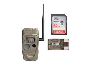 Cuddeback J-1521 CuddeLink Long Range IR Trail Camera with SD Card Bundle