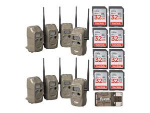 Cuddeback CuddeLink J Series IR Trail Camera (8pk) with 8 SD Cards and Reader