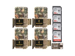 Browning Trail Cameras 20MP Recon Force Edge Trail Camera (4-Pack) Bundle