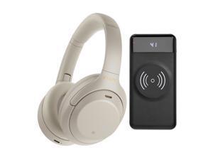 Sony WH-1000XM4 Wireless Noise Canceling Over-Ear Headphones (Silver) Bundle