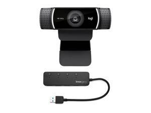 Logitech C922 Pro Stream 1080p Webcam with Knox 4-Port USB 3.0 Hub