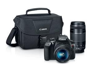 Canon Rebel T6 Camera w/ EF-S 18-55mm Lens & Gadget Bag with EF 75-300mm Lens