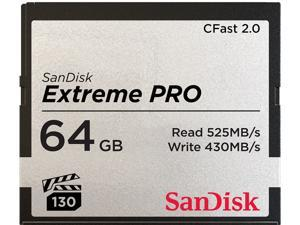 SanDisk - SDCFSP-064G-A46D - SanDisk Extreme Pro 64 GB CFast Card - 525 MB/s Read - 430 MB/s Write - Lifetime Warranty
