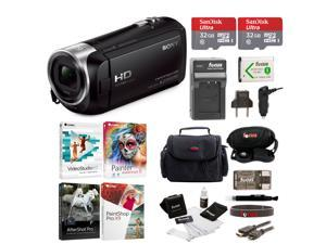 Sony HDR-CX405 Handycam Camcorder with Two 32GB Cards and Li-ion Battery Bundle