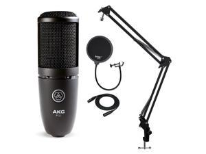 AKG P120 High Performance Recording Microphone with Pop Filter and Boom Arm
