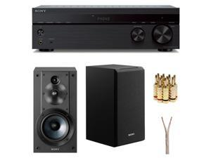 Sony 2 Channel Stereo Receiver with Sony 3-Way 3-Driver Speaker System Bundle