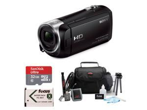 Sony CX405 Handycam 1080p Camcorder with 32GB SD Card and Battery Bundle