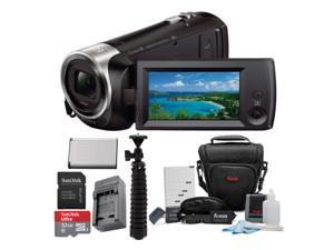 Sony HDR-CX440 Handycam Camcorder with 32GB Memory Card and Accessory Bundle