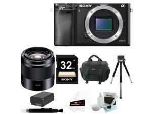 Sony a6000: Sony Alpha a6000 24.3 MP Digital Camera with E 50mm f/1.8 OSS Lens Bundle