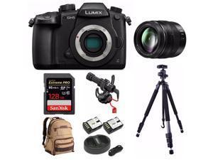 Panasonic LUMIX GH5 4K Mirrorless Camera with 12-35mm Lens and 128GB SD Card Bundle