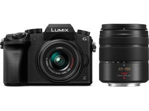 Panasonic Lumix DMC-G7 Compact System Camera Bundle w/ 14-42mm & 45-150mm Lenses