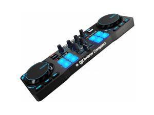 Hercules 4780843 DJControl Compact super-mobile USB Controller with 8 Trigger Pads and 2 Virtual Turntable Decks