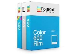 Polaroid 600 Film Triple Pack  ( 1 x B&W/ 1 x Color / 1x Color w/Color Frames)