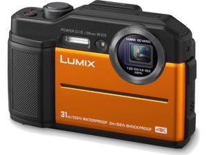 Panasonic LUMIX TS7 Waterproof Tough 20.4 MP 4.6x Zoom Digital Camera (Orange)