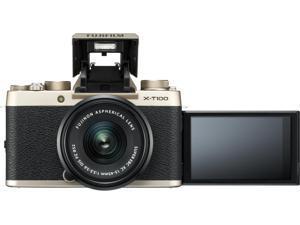 FUJIFILM X-T100 Mirrorless Digital Camera - Champagne Gold (Body Only)