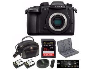 Panasonic Lumix DC-GH5 Mirrorless Camera Body (Black) with V-Log L Function Kit