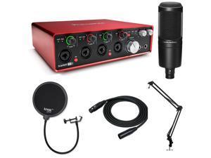 Focusrite Scarlett 18i8 Plus Audio-Technica AT2020 Microphone Bundle